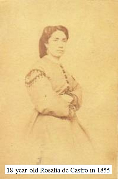 18-year-old Rosal�a de Castro in 1855